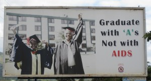 "Graduate with ""A""s  Not with AIDS"