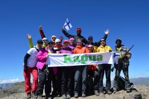 Kapuajat Ras Dashenin 4550m huipulla!